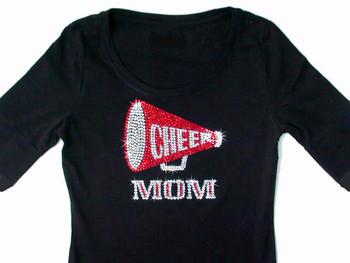 Cheer Mom Swarovski rhinestone shirt