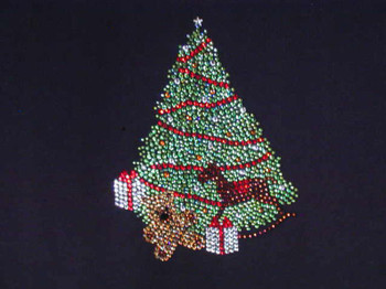 Christmas Tree Swarovski crystal shirt