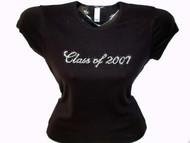 Graduate Class Of 2021 Graduation Swarovski Crystal Rhinestone T Shirt