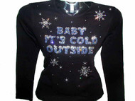 Baby It's Cold Outside Swarovski crystal shirt