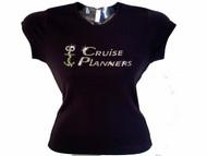 Custom Cruise Planners Logo Swarovski Crystal Bling T Shirt