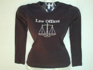 Custom Law Offices Logo Swarovski Crystal Rhinestone T Shirt