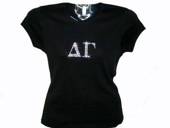 Delta Gamma Swarovski crystal rhinestone shirt