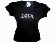 Diva Swarovski rhinestone women's t shirt