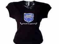 Dodge Viper logo Swarosvki rhinestone t shirt
