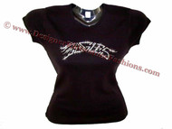 The Eagles Swarovski Crystal Rhinestone T Shirt Top