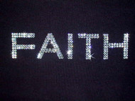 Faith Sparkly Rhinestone T Shirt