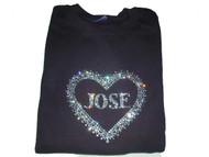 Bling Swarovski Rhinestone Heart T Shirt