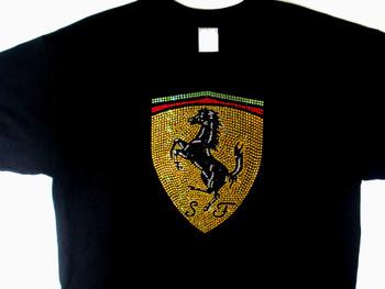 Ferrari Swarovski rhinestone bling t shirt