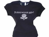 Fleetwood Mac Swarovski rhinestone concert t shirt