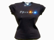 Friends TV Logo Swarovski Crystal Rhinestone T Shirt Top