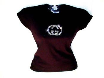 GG Swarovski rhinestone tee shirt