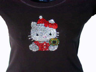 Hello Kitty Christmas Swarovski rhinestone tee shirt