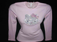 Hello Kitty Swarovski rhinestone tee shirt
