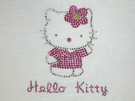 Hello Kitty Swarovski Crystal Rhinestone T Shirt