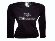 High Maintenance Rhinestone Sparkly Bling Tee shirt