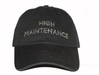 High Maintenance Swarovski Bling Hat/Cap