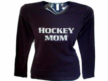 Hockey Mom Swarovski crystal shirt