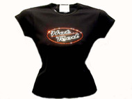 Hot Rod Swarovski Crystal Rhinestone T Shirt Top