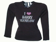 I Love Barry Manilow Swarovski rhinestone shirt