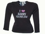 I Love Barry Manilow Swarovski rhinestone shirt