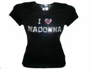 I Love Madonna Rhinestone Concert Tee Shirt