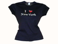 I Love New York Swarovski Crystal Rhinestone Tee Shirt