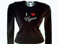 I Love Las Vegas Swarovski rhinestone t shirt