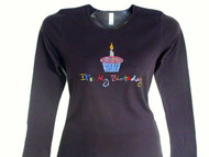 It's My Birthday Cupcake sparkly rhinestone shirt