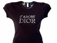 J'Adore Dior Swarovski crystal rhinestone shirt