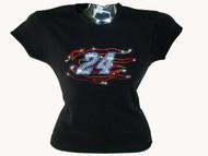 Jeff Gordon Swarovski rhinestone tee shirt
