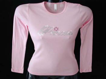 Jewish Princess Swarovski Crystal Rhinetone T Shirt
