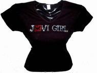 Jovi Girl Swarovski Crystal Rhinestone T Shirt Top