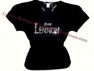 John Lennon The Beatles Swarovski rhinestone t shirt