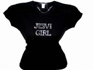 Jovi Girl Swarovski Crystal Rhinestone Concert T Shirt Top jovigirlnew