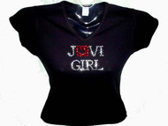Jovi Girl Swarovski Crystal RhinestoneT Shirt Top