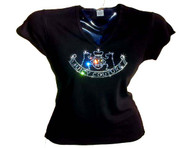 Juicy Couture Inspired Swarovski Crystal Rhinestone T Shirt Top
