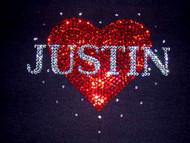 Justin Bieber Swarovski Crystal Bling Rhinestone Concert T Shirt