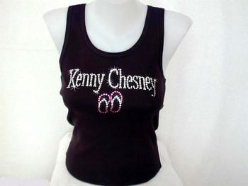 Kenny Chesney Rhinestone tank top t shirt