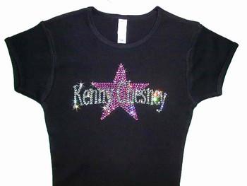 Kenny Chesney Swarovski Crystal Rhinestone T Shirt