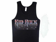 Red, White and Blue Kid Rock Rhinestone Bling Tank Top