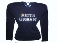 Keith Urban sparkly rhinestone concert shirt