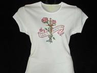 Lady Rocker Swarovski Crystal Rhinestone Studded T Shirt