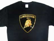 Lamborghini Swarovski Crystal Rhinestone Bling T Shirt