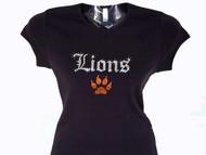 Lions custom rhinestone tee shirt