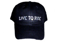 Live To Ride Rhinestone Baseball cap / hat