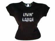 Livin' Large Swarovski Crystal Rhinestone T Shirt Top