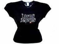 Lynyrd Skynryd Swarovski Crystal Rhinestone Concert T Shirt Top