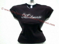 Madonna Swarovski Rhinestone Tee Shirt
