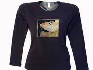 Madonna True Blue Swarovski Crystal Rhinestone T Shirt